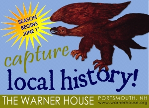 The eagle is from one of the four wall murals original to the first period of the c.1716 Warner House.