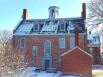 Warner House after a recent snow squall, December 2019.