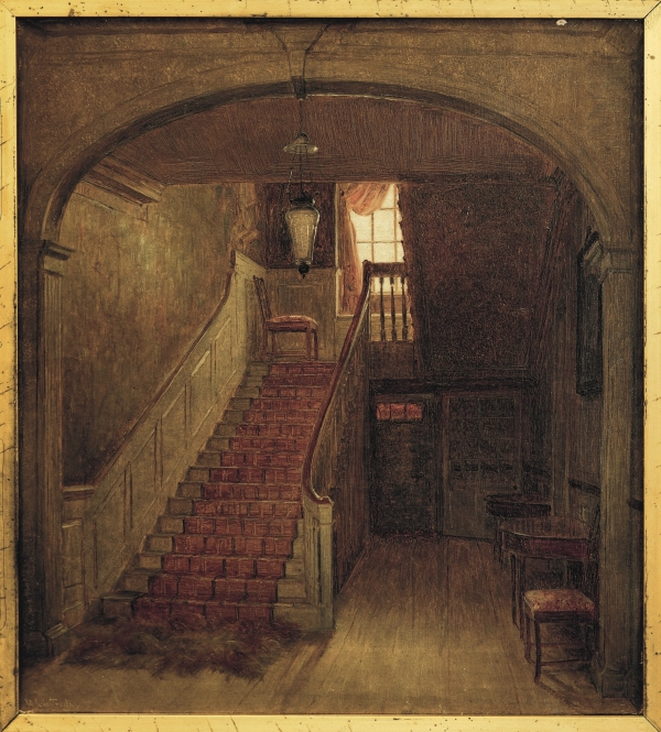 Whittredge Painting of 19th-century Warner House on Display